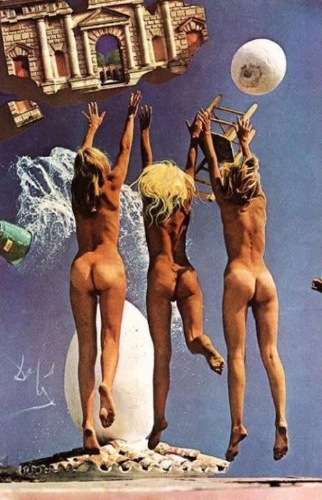 Las modelos fueron escogidas personalmente por Salvador Dalí.
