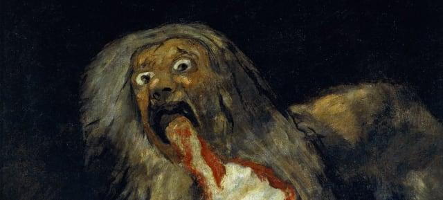 """Al utilizar el arte como mecanismo de comunicación, sus obras deben ser lo suficientemente expresivas como para que el público entienda lo que quiere decir sin necesitar muchas palabras, es por esto que su inspiración es el expresionismo. (Foto: """"Saturno devorando a su hijo"""" (1819) Francisco de Goya)."""