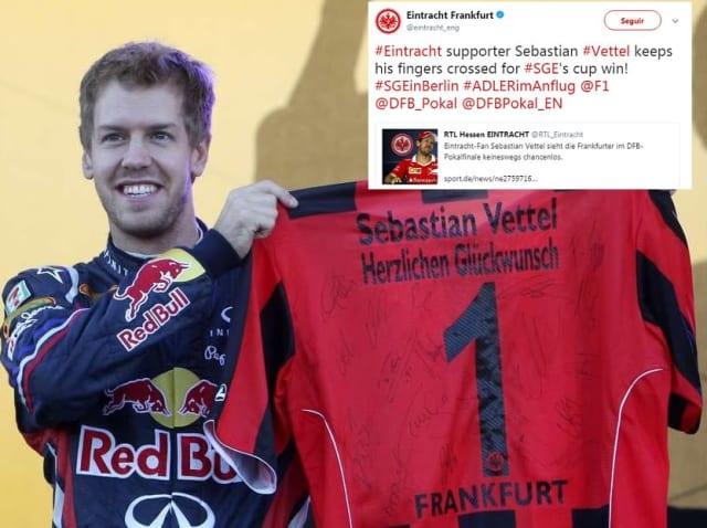 El alemán tetracampeón de la F1 es un gran seguidor del club de futbol de su país Eintracht Frankfurt, donde hoy militan los mexicanos Marco Fabián y Carlos Salcedo.