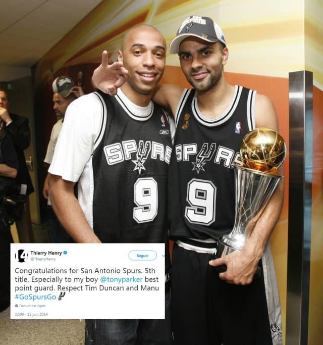 El ex futbolista francés de equipos como Arsenal y Barcelona es un amante del basquetbol, y aunque creció admirando a los Bulls de Michael Jordan tiene como equipo predilecto en la NBA a los Spurs, donde juega desde 1999 su compatriota Tony Parker.