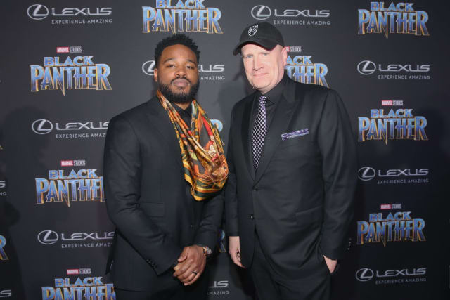 Panther's brilliant director Ryan Coogler stands strong with Producer & Marvel head-honcho Kevin Feige.
