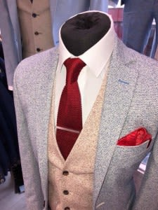 When choosing the colour of your suit, stick to the new neutrals. We love colours like brown, green and burgundy during these seasons – but we also love brighter shades such as light to medium blues, light greys and camel. Navy is really popular at the moment and works well with any wardrobe. Shades of grey work with all skin tones, and they look great all year around. As we move into Spring, think strong and subtle colours that would look good in Autumn too.