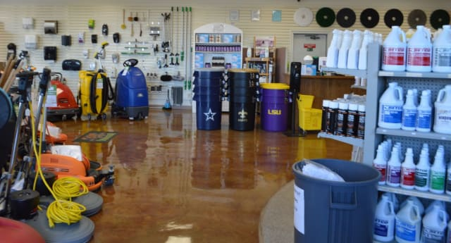 Be our guest!  Our showroom is open to the public Monday through Friday from 8:00 a.m. to 5:00 p.m. We have trained service representatives to help you find what you need to clean and maintain not only your home but your business too.  Our staff can show you products to clean just about anything.