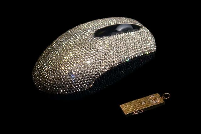 CRYSTAL COVERED COMPUTER MOUSE