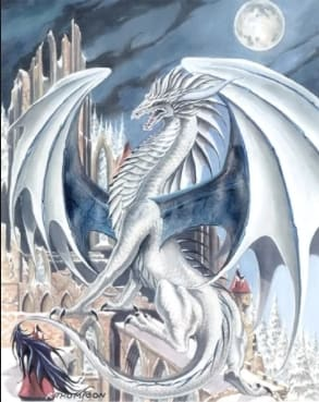 Description: White, pink and purple scales. Purple eyes. Gray claws. Abilities: Their scales are immune to the hard iron that may be thrown on their backs by the SteelClaws. Their teeth are cloudy and soft but they can turn them into sharp teeth for eating or battling. They breath poisonous hair bows. Queen: Queen Cloud Alliances: They are currently allied with Poison