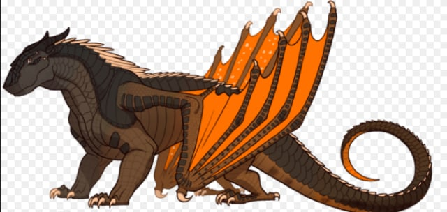 Description: Brown, orange and gray scales. Gray eyes. Brown claws. Abilities: Their scales are covered in poisonous, spiky rocks. Their teeth are those spiky rocks. They fall out easily but grow back in fast. They breath boulders. Queen: Queen Bouldr Alliances: They are currently allied with Change