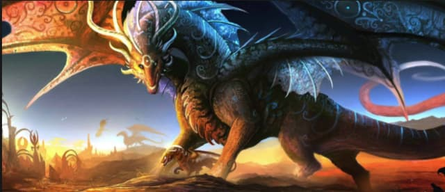 Description: Black, green and red scales. Black eyes. Pink claws. Abilities: Their scales shine as bright as brightest night when touching, or loving, another dragon. Their teeth are the sharpest things on Draconirsia. They breath fire. Queen: Queen Scal Alliances: They are currently allied with Blood