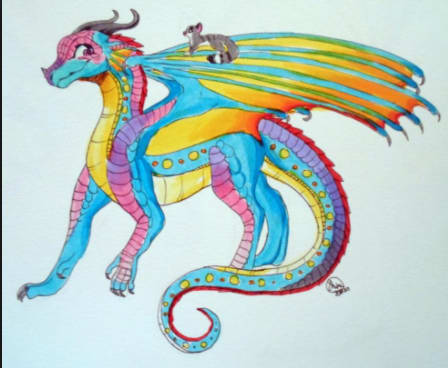 Description: Pink, blue and purple scales. Black eyes. Color changing claws. Abilities: Their scales let off a mist in battle so that the opponent loves it. They don't want to attack it. Their teeth are made of candy. They breath the pink mist. Queen: Queen Slylv Alliances: They are currently allied with Poison