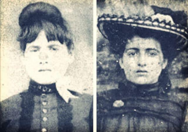 Zona Shue a la izquierda, y a la derecha su madre Mary Jane Heaston.