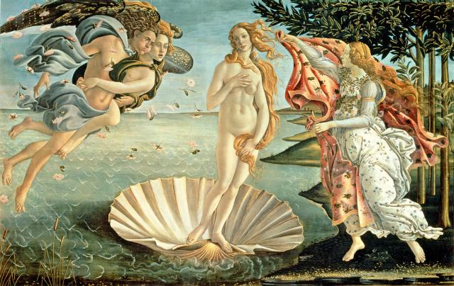 Классический пример идеала женской красоты в эпоху Возрождения - Венера Боттичелли. Уже нет той бледности, а волосы не уложены в тугую прическу, а свободно рассыпаны по плечам. Пышная фигура становится одной из главных ценностей этого периода. Ценятся полные руки, широкие бедра, мягкие и плавные женственные черты.