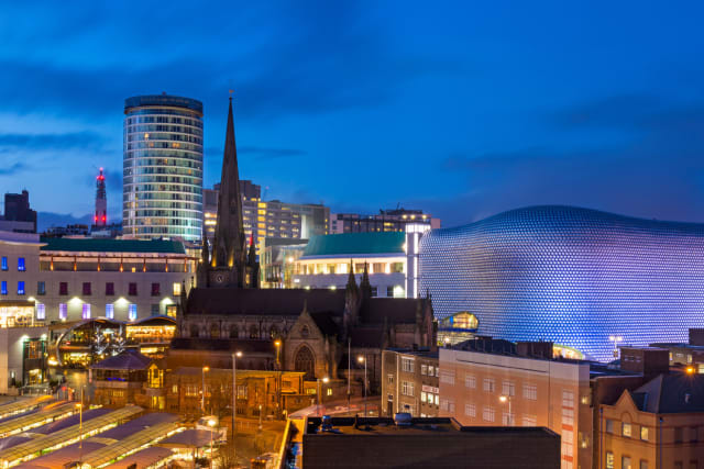 As the city with the largest population outside of London, it's not a huge surprise that Birmingham was third.