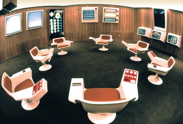 La sala de operaciones del Cybersyn