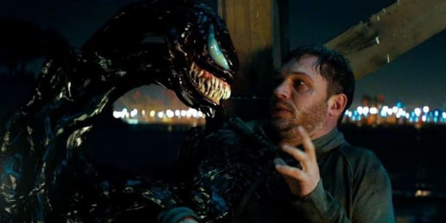 Venom reveals himself to Eddie Brock. Courtesy of Columbia Pictures.