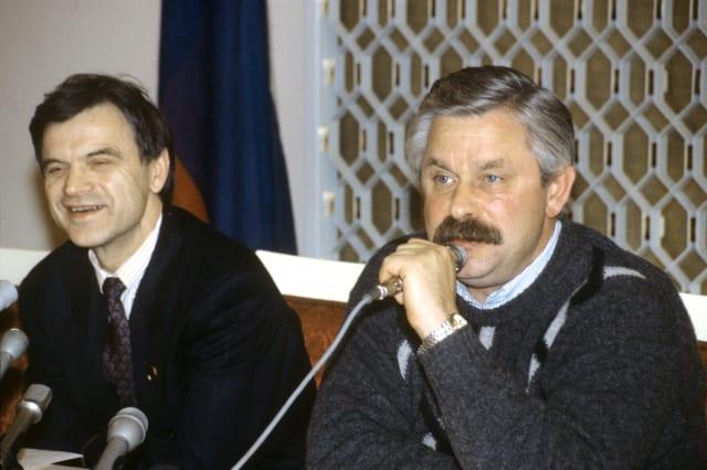Ruslán Jasbulátov y Alexandr Rutskói