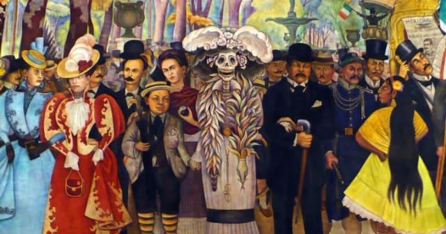 Sueño de una tarde dominical en la Alameda Central, Diego Rivera .-