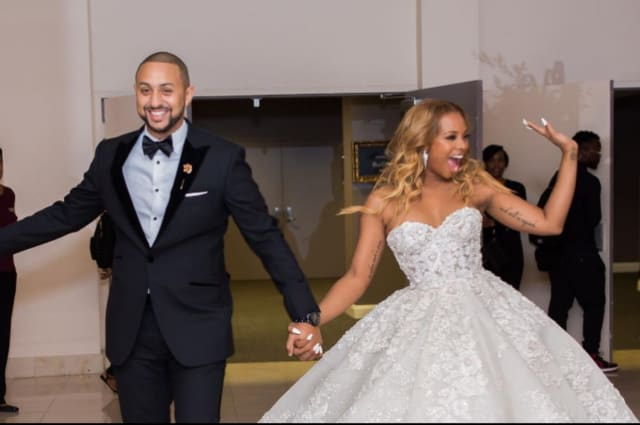 65e346f934a The photos from Eva Marcille and Michael Sterling s fairytale Atlanta  wedding have finally arrived