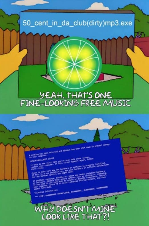 The Whole Internet's Obsessed With Simpsons-Limewire Memes