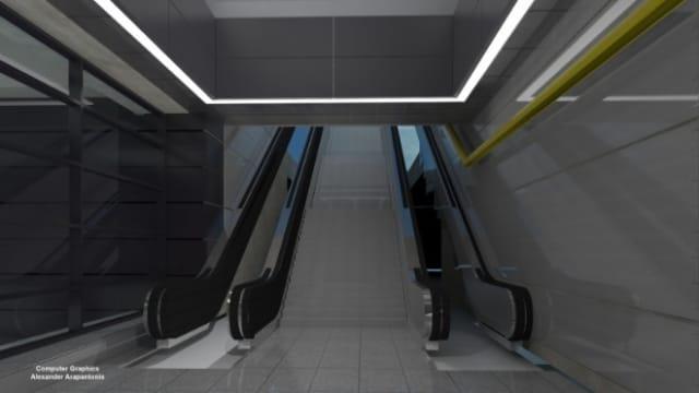 Ο σταθμός Νίκαια κατασκευάζεται σε βάθος 28 μ. με εκσκαφή και επανεπίχωση (cut and cover) κάτω από την πλατεία Ελευθερίου Βενιζέλου και τμηματικά με υπόγεια διάνοιξη.