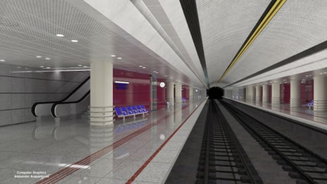 Στο σταθμό αυτό προβλέπονται τρεις είσοδοι, δύο από αυτές επί της λεωφόρου Ελ. Βενιζέλου και η τρίτη επί της πλατείας Αγίας Ελεούσας.