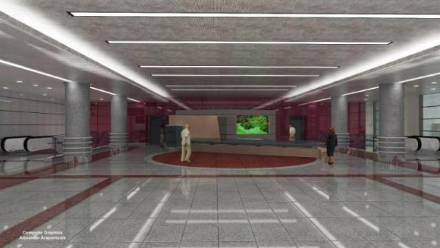 Για την παροχή φυσικού φωτισμού στους χώρους κοινού, προβλέπεται άνοιγμα στην πλατεία, το οποίο επικοινωνεί με μη στεγασμένο υπαίθριο χώρο στο επίπεδο έκδοσης εισιτηρίων.