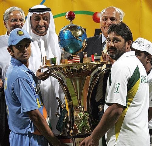 A trophy befitting a momentous achievement, such as drawing a two-match ODI series.