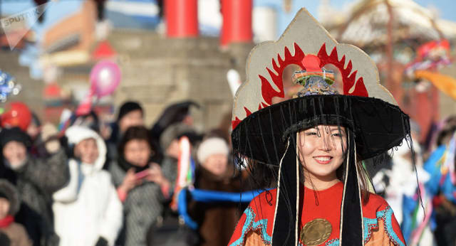 Manifestazione folkloristico-culturale a Elista