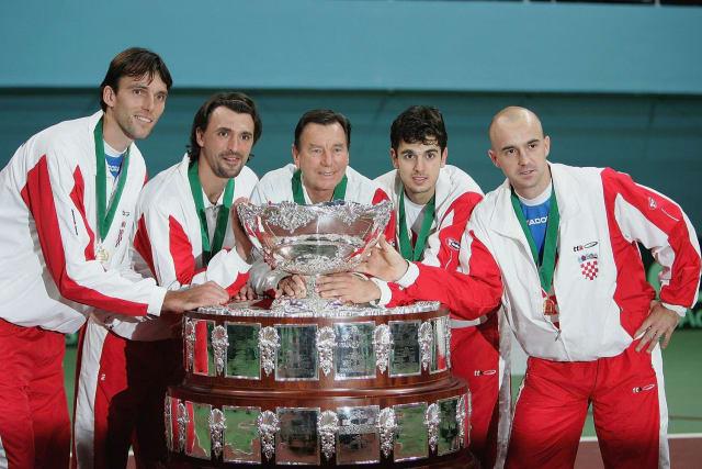 Ivan Ljubičić i Mario Ančić u Bratislavi 2005. ispisali su neke od najljepših stranica hrvatskog tenisa i hrvatskog sporta kad su osvojili svjetsko prvenstvo u tenisu - Davis Cup.