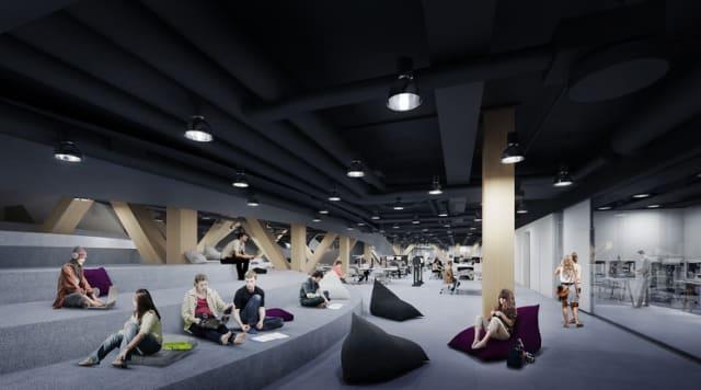 Visión de ALA Architects de la planta baja.-