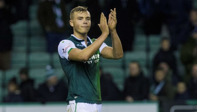 Ryan Porteous came for criticism from Rangers boss Steven Gerrard. The Liverpool legend felt the Hibs defender was too high and late on Lassana Coulibaly and questioned whether a Rangers player would have been sent off for the challenge. (BT Sport)