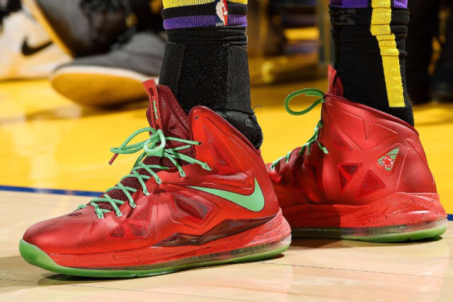 "hot sale online 79977 38a6c Nike LeBron 10 ""Christmas"""