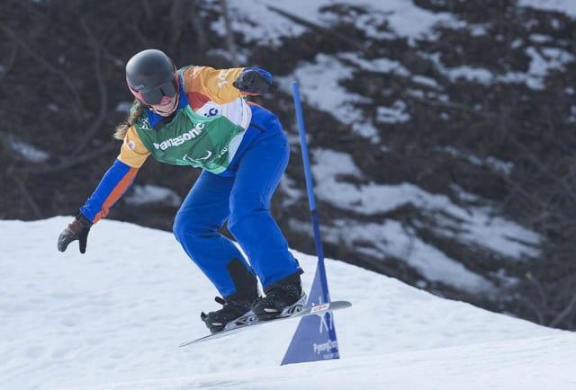 Astrid Fina, en los Juegos Paralímpicos de Pyeongchang 2018. FOTO: MIKAEL HELSING / CPE