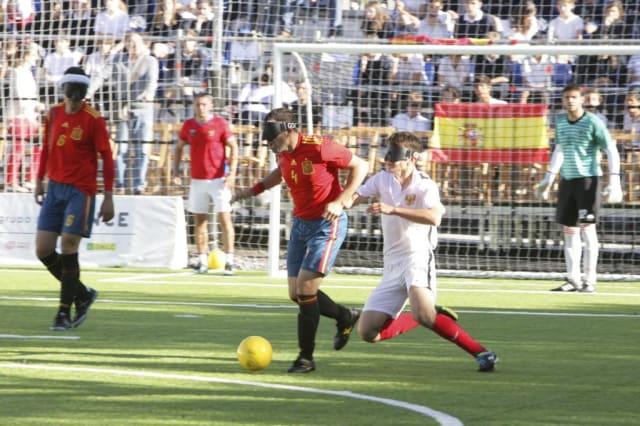 Partido entre España y Rusia en el último Mundial celebrado en Madrid. FOTO: Javier Regueros / ONCE