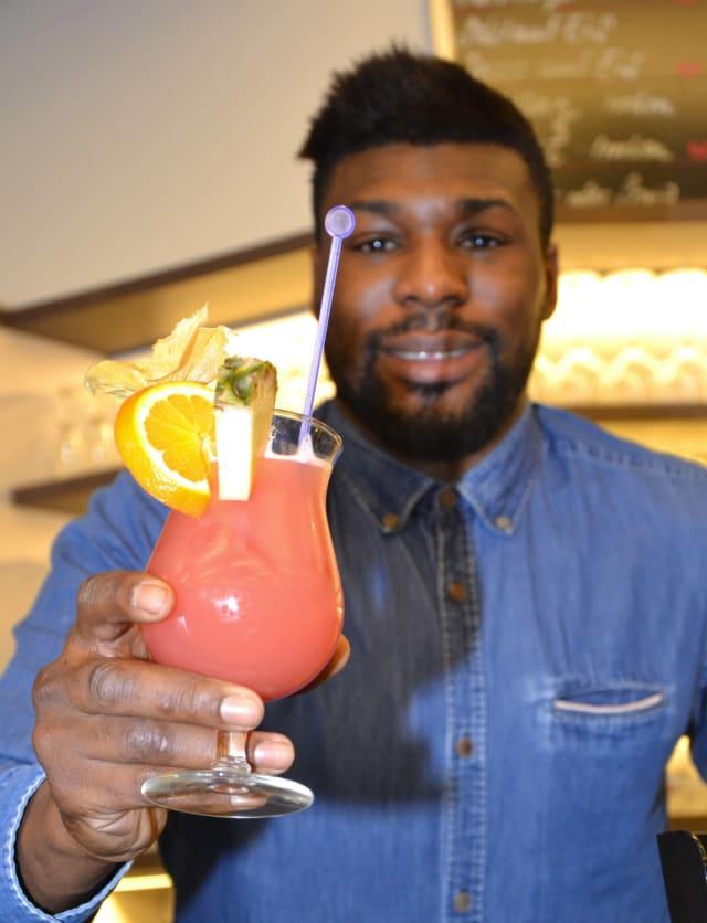So sieht's aus, wenn der Cocktail fertig ist.