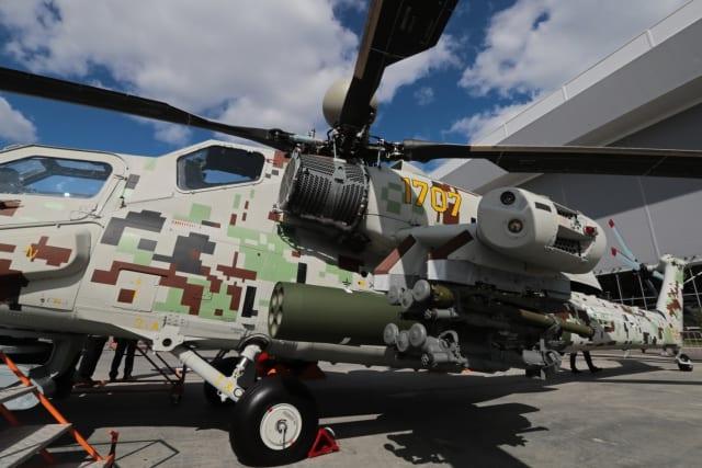 Los misiles antitanque Jrizantema-VM fueron presentados en el Mi-28NE (versión de exportación) por primera vez en el foro Army 2018.