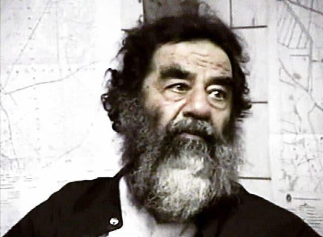 Sadam Husein al ser capturado en el 2003.-