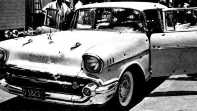 Chevrolet Balair en el que se encontraba Trujillo al momento de su asesinato.-