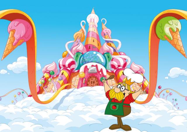"""É o Rei de Zuzubalândia e conselheiro das crianças, tem sotaque italiano e sua frase preferida é """"Ma nacha Muzzarela!""""."""