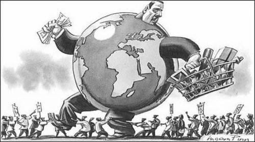 Globalización neoliberal - Imagen: L. Pinn, ilustrador.-