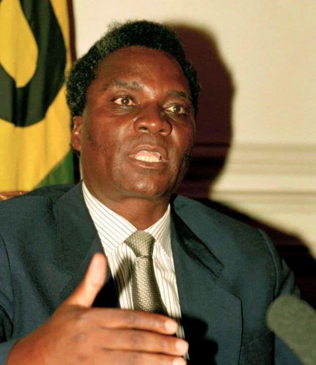 Juvenal Habyarimana, el entonces presidente de Ruanda