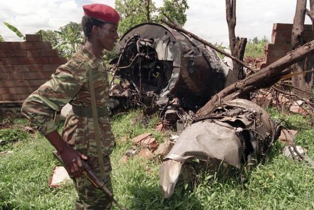 El avión derribado en el que volaba Juvenal Habyarimana