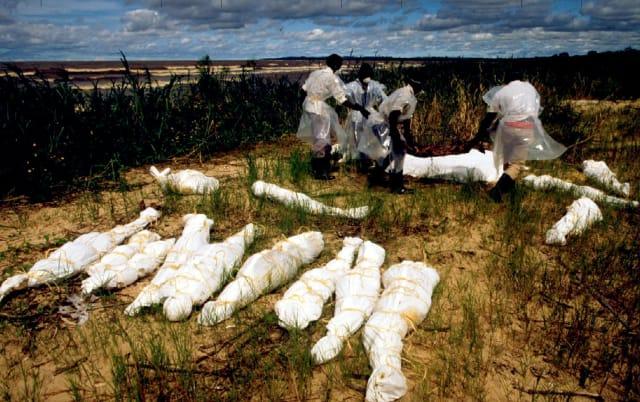 Cadáveres de tutsi hallados en un río de Uganda
