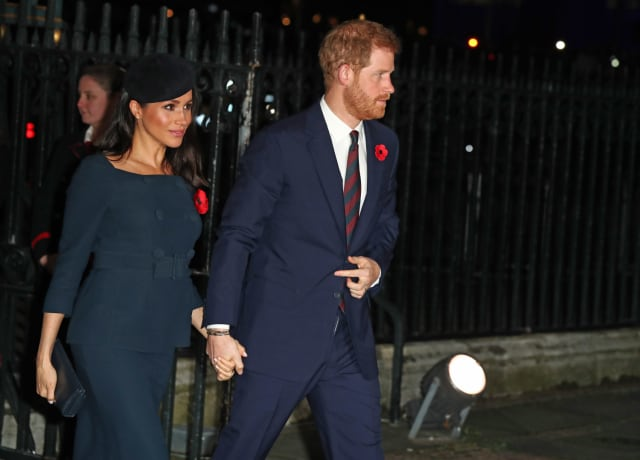 The Duke and Duchess arrive at Westminster Abbey for the Armistice Day service on November 11th. Photo: PA