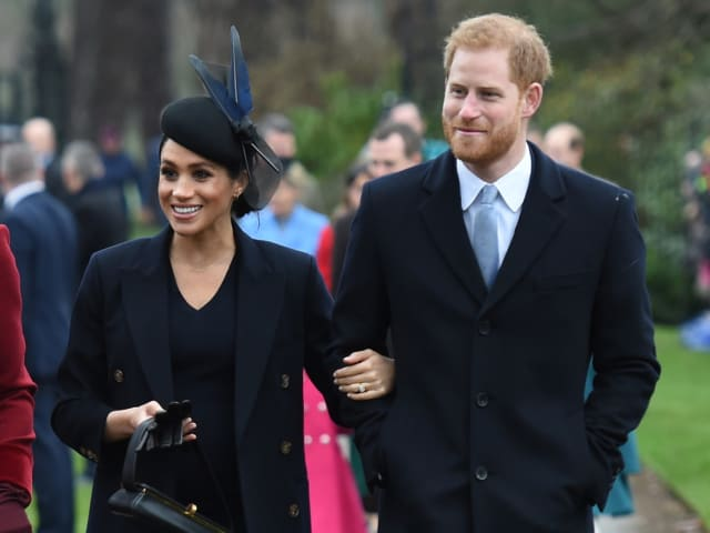 The Duke and Duchess spend their first Christmas together as a married couple. Photo: PA