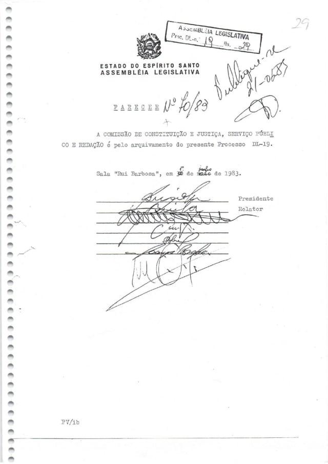 Foi nesse ano que a Comissão de Constituição e Justiça da Ales emitiu parecer pelo arquivamento do processo de emancipação de Venda Nova. O motivo: o distrito não atendia às exigências legais para se tornar município.