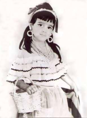 Una imagen de Maribel cuando tenía 5 años de edad.