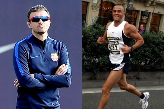 El ex delantero del Barcelona y Real Madrid, y hasta hace unos días estratega de la Selección de España, probó suerte como Ironman. El asturiano empezó a correr maratones en 2005. Participó en la prueba de Nueva York ese mismo año, en Amsterdam al año siguiente, en 2007 en Florencia y después decidió competir en el 'Marathón des Sables', una de las carreras a pie más duras del mundo y consiguió terminarla. De manera paralela, el español participó en varias competencias de triatlón, disciplina en la que debutó en el 'Olímpico de Banyoles' en 2007 y que le sirvió para preparar el Ironman de Frankfurt de ese mismo año y la carrera de larga distancia de Niza. Antes de fichar con el Celta en 2013 como DT, también se aficionó a la bicicleta, con la que compitió en pruebas como 'La Quebrantahuesos', la'Irati Xtrem' y la 'Cape Epic', en esta última se hizo acompañar de otro ex culé, Juan Carlos Unzue.