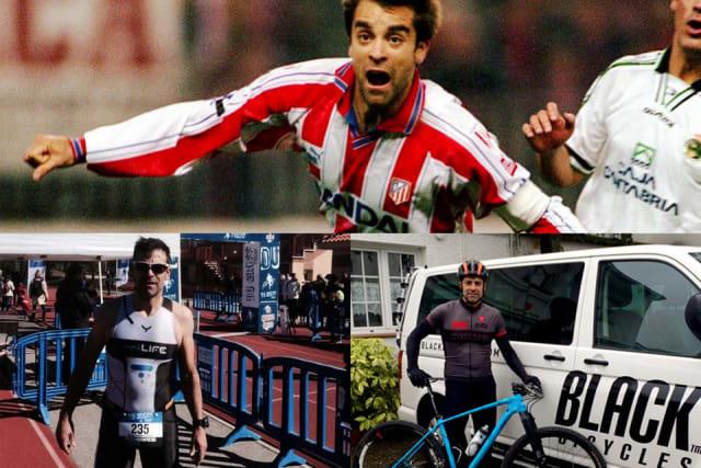 El ex jugador del Atlético de Madrid y de la Selección de España que conquistó la medalla de oro en los Juegos Olímpicos de Barcelona 92, se convirtió en ciclista de categoría Master y ha participado, y terminado, importantes pruebas de bicicleta de montaña como la 'Titan Desert', la 'Andalucía Bike Race' o 'La Rioja Bike Race'. También compitió en la prueba de triatlón 'Ironman de Lanzarote' en 2013 y acabó la prueba en menos de 12 horas gracias al asesoramiento del entrenador de esta disciplina Pablo Cabeza.
