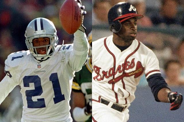 Podríamos decir que el único que logró triunfar en dos disciplinas es Deion Sanders, quien jugó para Atlanta, San Francisco, Washington y Baltimore, fue con Dallas con quien se coronó en la NFL y en las Grandes Ligas con los Bravos de Atlanta. Durante la temporada de 1989, Sanders bateó un cuadrangular en las Grandes Ligas y se apuntó un touchdown en la NFL en la misma semana, convirtiéndose en el único ser humano en realizar semejante hazaña. El 5 de septiembre de ese año defendía los colores de New York Yankees, pegó un jonrón ante el entonces juvenil de Seattle Mariners, Randy Johnson. Sorprendentemente, Sanders decidió renunciar a su contrato con los Mulos y esa misma semana, el 10 de septiembre, devolvió una patada hasta las diagonales para consumar su proeza ante Los Ángeles Rams.