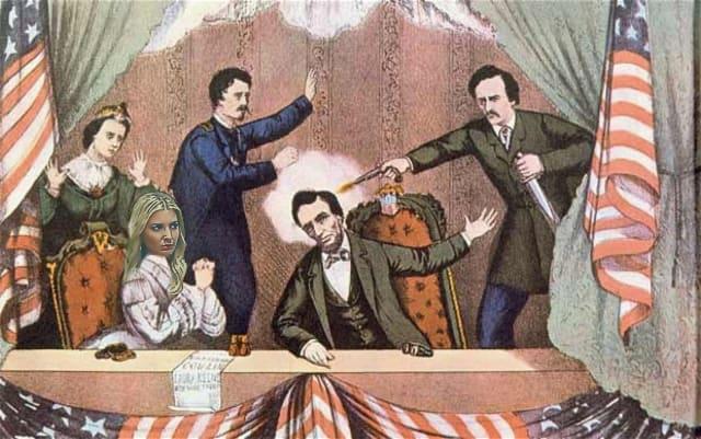 En el asesinato de Abraham Lincoln.