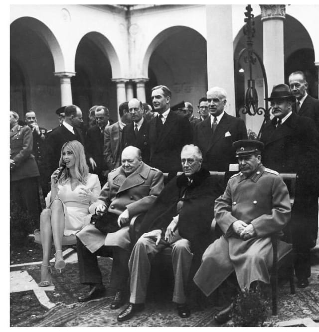En la conferencia de Yalta.